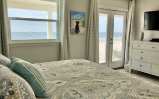 King master bedroom opens to private deck