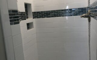 Custom tile walk in shower for the loft